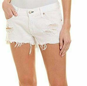 Rag & Bone Marin Cut Off White Jean Shorts